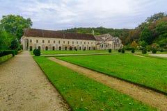 Die Abtei von Fontenay Lizenzfreies Stockbild