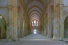 Die Abtei von Fontenay Lizenzfreie Stockfotos
