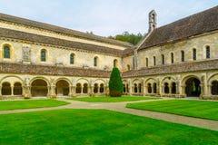 Die Abtei von Fontenay Stockbilder