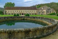 Die Abtei von Fontenay Lizenzfreies Stockfoto