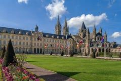 Die Abtei von Saint-Etienne und von Rathaus, Caen, Frankreich Lizenzfreie Stockfotos