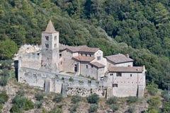 Die Abtei von San cassiano Lizenzfreies Stockbild