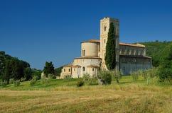 Die Abtei von Sant'Antimo Stockfotos