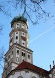 Die Abtei von St. Ulrich und von St. Afra in Augsburg, Deutschland Stockfotos