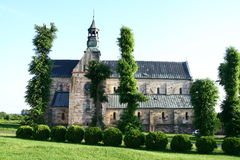 Die Abteikirche in Sulejow Stockfotos