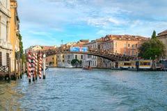 Die Accademia-Brücke über Grand Canal in Venedig Stockbild