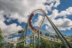 Die Achterbahn die Pythonschlange im Vergnügungspark Efteling Stockbilder