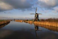 Die Achterlandse-Windmühle Stockfoto