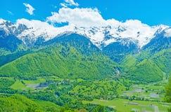 Die Ackerlande von Svaneti Lizenzfreie Stockfotos