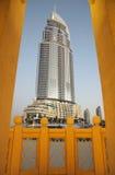Die Adresse im Stadtzentrum gelegenes Burj Dubai Stockfoto