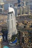 Die Adresse im Stadtzentrum gelegenes Dubai lizenzfreies stockfoto