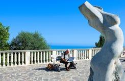 Die adriatische Küste Stockbild