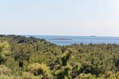 Die adriatische Küste in Istria Lizenzfreies Stockfoto