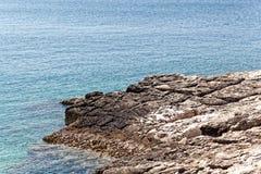 Die adriatische Küste in Istria Stockbilder