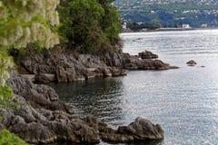 Die adriatische Küste in Opatija Stockbilder