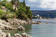 Die adriatische Küste in Opatija Stockbild