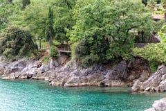 Die adriatische Küste in Opatija Lizenzfreie Stockfotos
