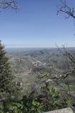 Die adriatische Küste und die Hügel von San Marino Stockfotos