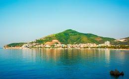 Die adriatische Küste von Montenegro Stockbilder