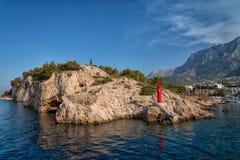 Die adriatisches Meer-Makarska-Bucht, Kroatien Lizenzfreies Stockbild