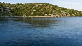Die adriatisches Seeansicht schöne Bildinsel Stockfotografie