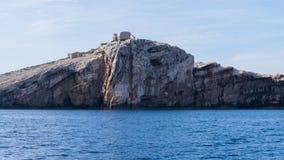 Die adriatisches Seeansicht schöne Bildinsel Stockbild