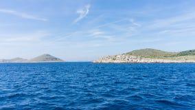 Die adriatisches Seeansicht schöne Bildinsel Stockfoto