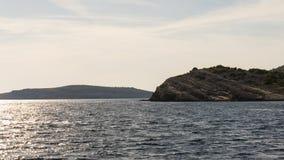 Die adriatisches Seeansicht schöne Bildinsel Lizenzfreie Stockfotos
