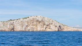 Die adriatisches Seeansicht schöne Bildinsel Lizenzfreie Stockbilder