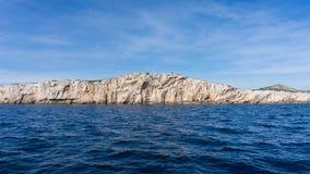 Die adriatisches Seeansicht schöne Bildinsel Stockfotos