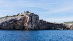 Die adriatisches Seeansicht schöne Bildinsel Stockbilder