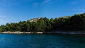 Die adriatisches Seeansicht schöne Bildtapete Stockbild