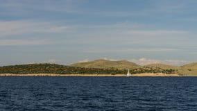 Die adriatisches Seeansicht schöne Bildtapete Stockfotos