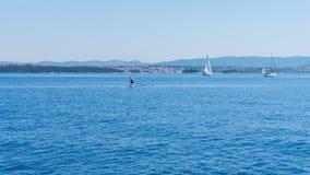 Die adriatisches Seeansicht schöne Bildyachten Lizenzfreie Stockbilder