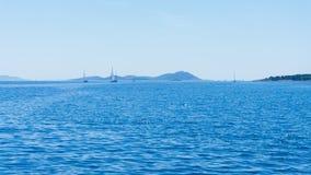 Die adriatisches Seeansicht schöne Bildyachten Lizenzfreies Stockfoto