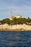 Die adriatisches Seeansicht schöner Bildleuchtturm Stockfoto