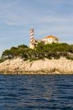Die adriatisches Seeansicht schöner Bildleuchtturm Stockfotografie