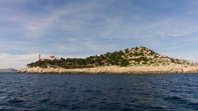 Die adriatisches Seeansicht schöner Bildleuchtturm Lizenzfreie Stockfotografie