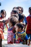Die Aeta-Stammkinder nahe bringen Pinatubo am 27. August 2017 in S an Lizenzfreies Stockbild