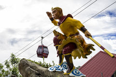 Die Affe-Gottstatue bei Chin Swee Temple, Genting-Hochland, Malaysia Stockfotos