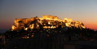 Die Akropolis in Athen Stockbild