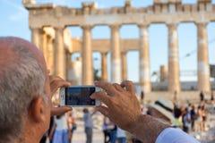 Die Akropolis von Athen Lizenzfreie Stockfotos