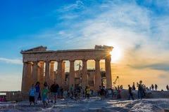 Die Akropolis von Athen Stockfotos