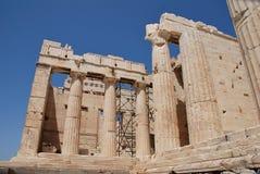 Die Akropolis von Athen Stockbild