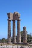 Die Akropolis von Rhodos, Griechenland lizenzfreies stockbild
