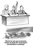 Die Aktionär-Sitzung des nächsten Jahres Lizenzfreies Stockfoto
