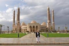 Die Al-Salehmoschee in der Hauptstadt vom Jemen, Sanaa Lizenzfreies Stockbild
