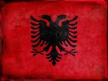 Die albanische Markierungsfahne Stockfotos