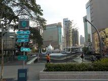 Die Albtraumstadt Kuala Lumpur, Malaysia lizenzfreie stockfotos