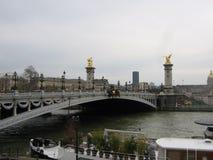 Die Alexandre-Brücke in Paris lizenzfreie stockbilder